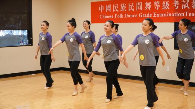 中國民族民間舞蹈等級教師冬季培訓班開始報名。(南海岸中華文化中心提供)