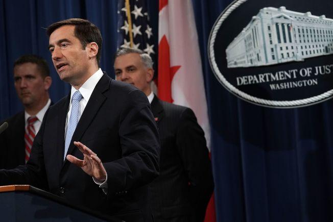 司法部負責國家安全事務的助理部長戴莫斯(John Demers)表示,竊取智慧財產權損及美國企業與勞工,最近的案子顯示,這些竊取行為往往與中國政府或企業相關。(Getty Images)