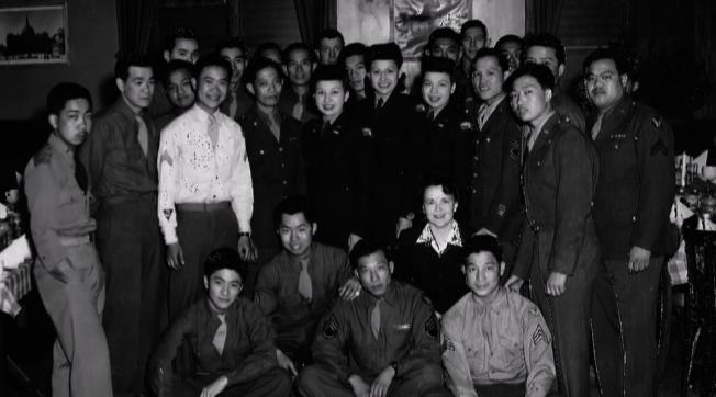 二戰中諸多華裔青年參軍入伍,為國奉獻。(本報檔案照)