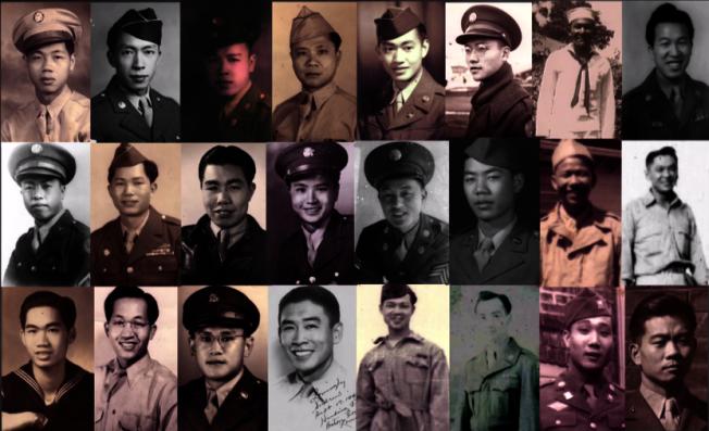 參加過二戰的華裔軍人,如今仍健在的已不足百人。(本報檔案照)