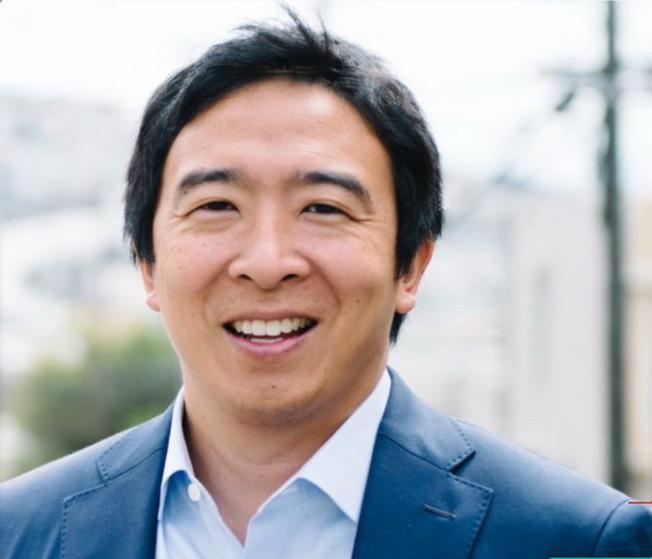首位宣布參選美國總統的華人楊安澤。(取自官網)
