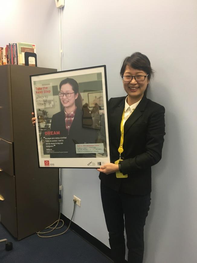 蔡惠玲被CLIP項目選作為海報人物。(蔡惠玲提供)