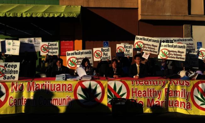 艾市通過天普市大道4400號街區的醫療大麻基地後,有華人對加州失望打算搬往外州。(本報檔案照)