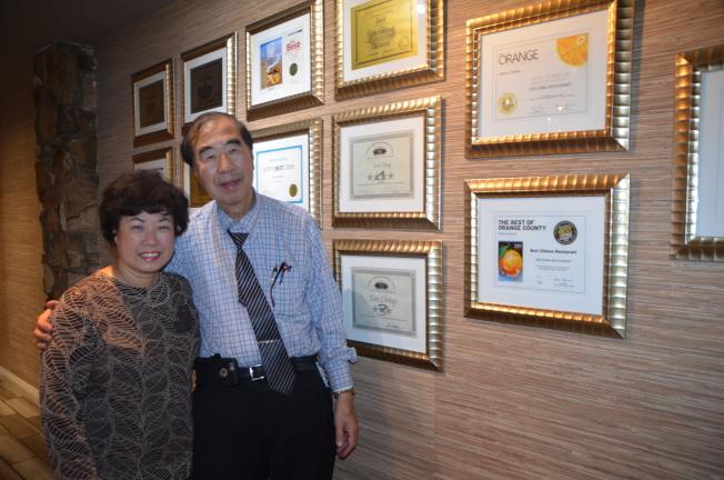 Ben和Ruby鄒夫婦經營餐廳40年實現美國夢。(記者王全秀子/攝影)