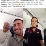 棒老爹!為跟空姐女兒過耶誕 暖心老爸搭同班機陪飛