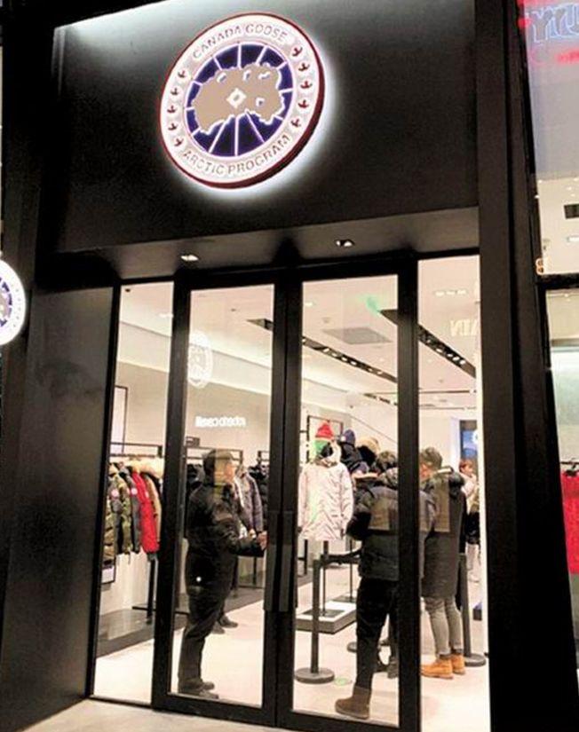 CANADA GOOSE北京三里屯的旗艦店12月28日開幕。(取材自微博)
