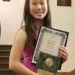 華裔少女周雨欣 獲國際天賦兒童音樂賽二等獎