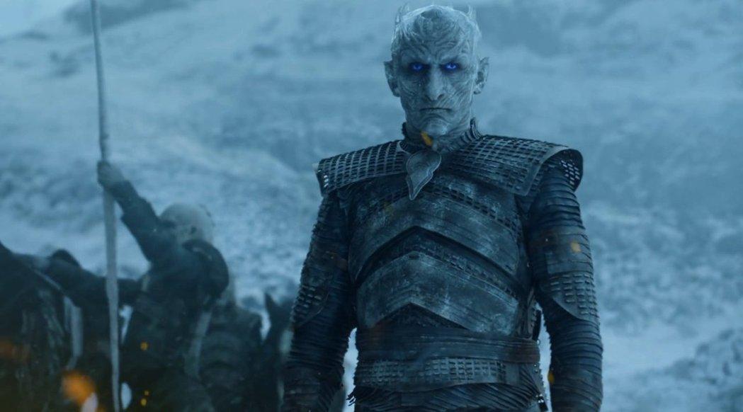 佛拉迪米爾佛狄克在「冰與火之歌:權力遊戲」中飾演夜王,最終季仍有重要戲分。圖/摘自HBO
