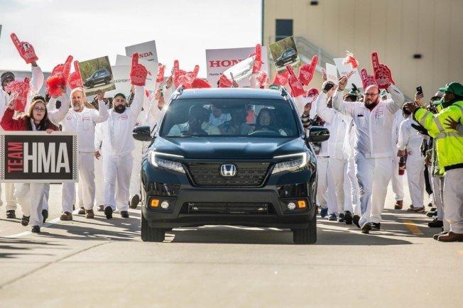 全新Honda Passport日前於阿拉巴馬州的工廠正式投產。(Honda)