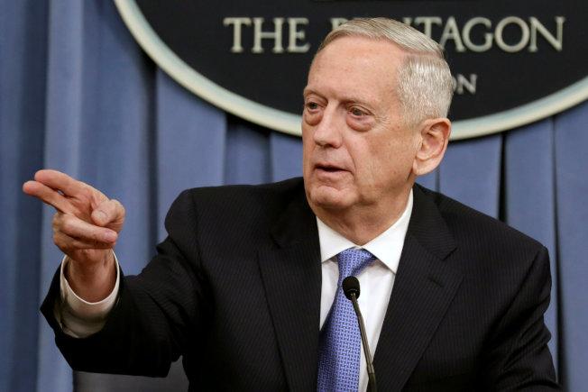前國防部長馬提斯去年12月中向川普總統請辭。(路透)