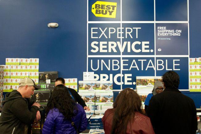 百思買對10月31日至12月28日期間的售出的大部分商品的最後退貨日期是1月12日。(Getty Images)