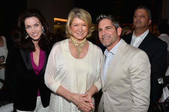 卡爾東與「生活大師」瑪莎史都華(Martha Stewart,左二)2014年出席美食展。(Getty Images)