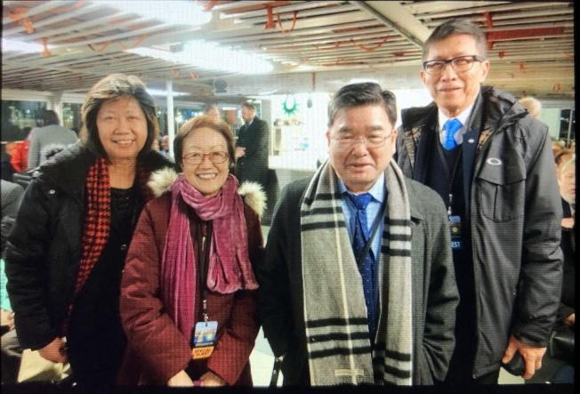 陳倩雯、顧雅明等多名華裔代表參加葛謨就職典禮。(記者金春香/攝影)