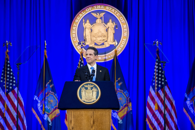 州長葛謨在就職典禮上發表講話。(州長辦公室提供)
