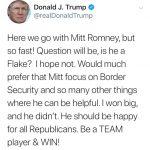 重砲轟川普 羅穆尼聲明:無意再選總統 川普反擊:你要做好隊員 助團隊打勝仗