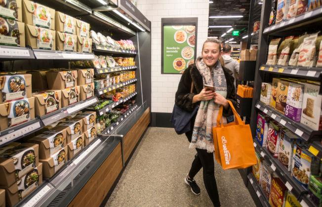 亞馬遜在西雅圖的Amazon Go無人商店。(Getty Images)