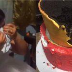 離譜!結婚蛋糕切開竟是保麗龍 新娘崩潰大哭