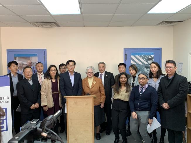民選官員、亞太裔組織宣布,今年將積極推動「夢想法案」、「紐約綠燈運動」立法。(記者賴蕙榆/攝影)
