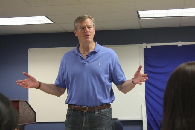 麻州州長貝克在最新民調中蟬聯全國最受歡迎州長。(記者劉晨懿之/攝影)
