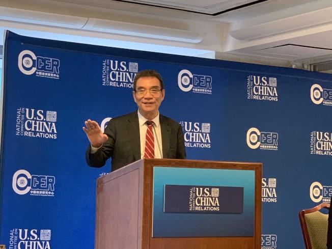 前世界銀行副總裁林毅夫表示,中國今年的經濟增速將穩定在6.5%。(記者和釗宇/攝影)