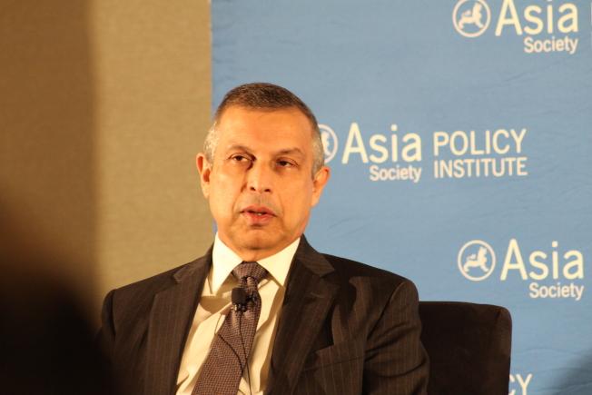 米埔里說,美中貿易戰增強亞洲國家和地區的貿易不穩定性。(記者張筠/攝影)