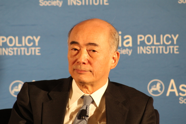 佐佐江賢一郎表示,中國務必先完成雙邊自由貿易,才能進一步探討是否可加入CPTPP。(記者張筠/攝影)