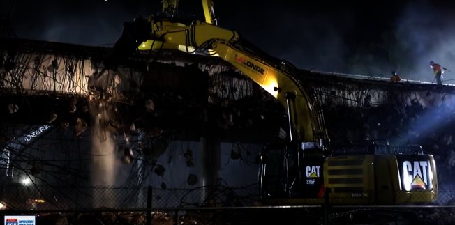 405號公路部分路段的擴建工程在晚間進行。(橙縣交通局提供)