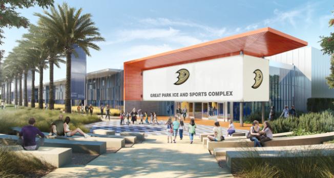 耗資一億元的橙縣大公園冰宮訂3月7日盛大開幕。(爾灣市議員福克斯提供)