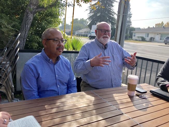 聖荷西第一區市議員瓊斯(左)被市長提名為副市長人選,市議會將於15日討論。(本報檔案照片)