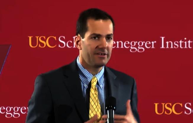 歐巴馬2012年競選總統團隊數據分析師Andrew Claster分享政治改革成功的方法。(記者陳開/攝影)