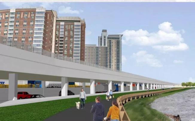 波士頓近年最大的高速改造項目終於揭曉,麻州收費公路奧斯頓段將修新高架。(麻州交通署提供)