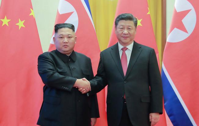 中國國家主席習近平與北韓領導人金正恩8日舉行會談。Getty Images