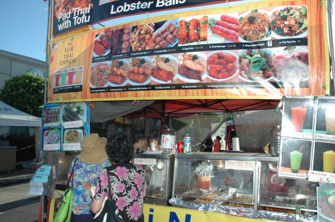 泰國美食攤。