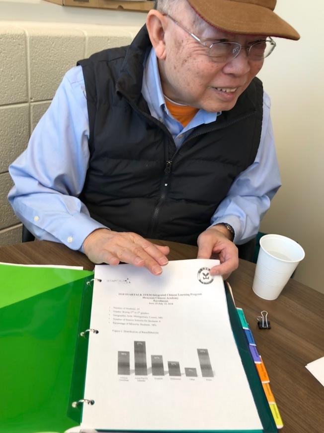 張孟琪推全球化的中文課程,他擔任非盈利組織「華苑」董事長,為美國情報組織訓練外語人才超過七年。(特派員許惠敏/攝影)
