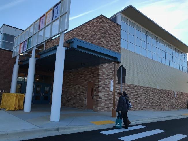 新啟用小學貝耶拉斯汀(Bayard Rustin E.S.)是蒙郡公立學校134所小學中,第二所設有浸入式中文計畫。(特派員許惠敏/攝影)