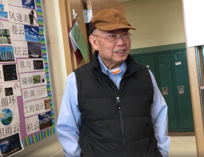 張孟琪推全球化的中文課程,11日參觀蒙郡新啟用小學貝耶拉斯汀(Bayard Rustin E.S.)的浸入式中文計畫。(特派員許惠敏/攝影)