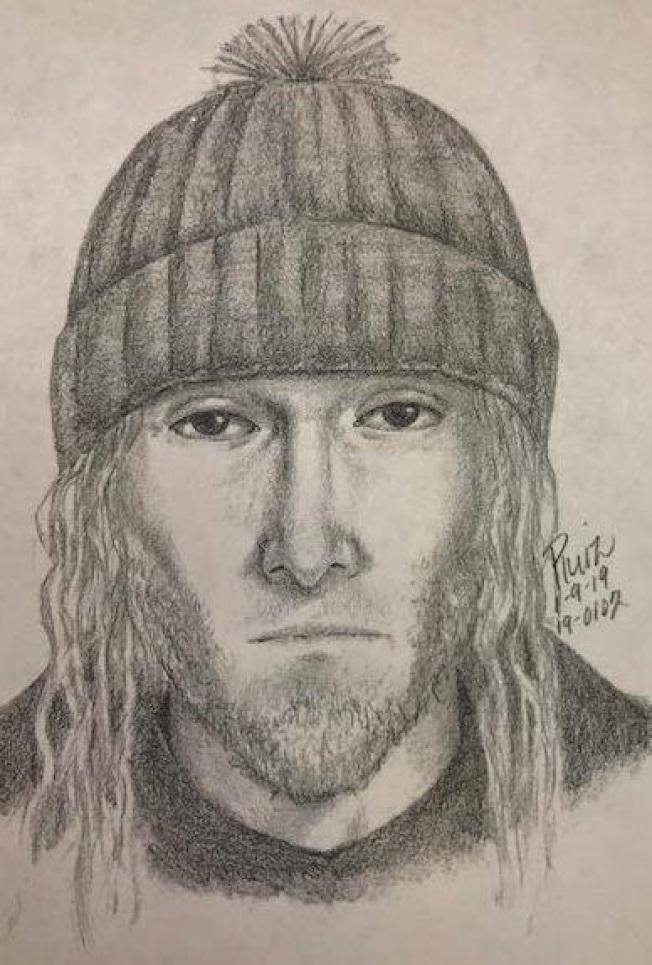 巴洛阿圖警方10日公布近期一起強暴搶劫案件歹徒素描畫像,希望民眾注意安全也協尋歹徒。(圖:巴洛阿圖警方報導)