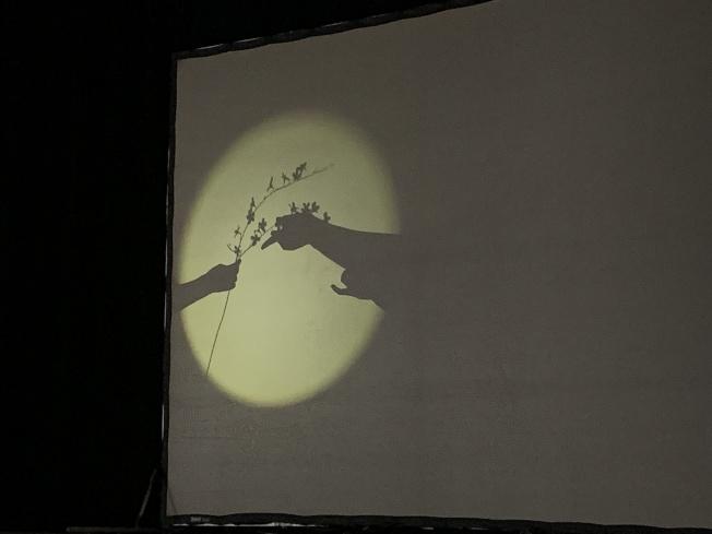「四季」光影戏除讲述四季轮回外,也透过京剧演员表演,呈现人生篇章。(记者赖蕙榆╱摄影)