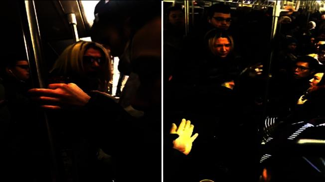 Anna Lushchinskaya在地鐵上攻擊一名華裔乘客,並以種族歧視言論辱罵。(本報檔案照)