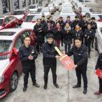 溫州公司年終獎:百輛新車送員工