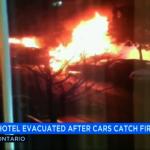安大略機場附近旅館遭縱火 毀7車