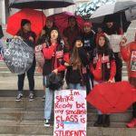 30年首次! 洛杉磯數千教師雨中遊行求加薪