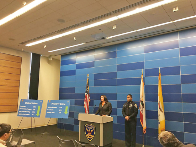 金山暴力犯罪大幅下降。(照片由市長辦公室提供)