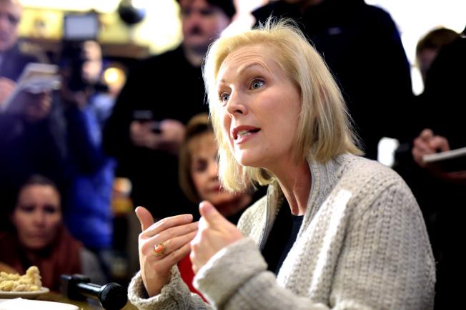 紐約州國會參議員陸天娜也爭取2020年民主黨總統提名。(美聯社)