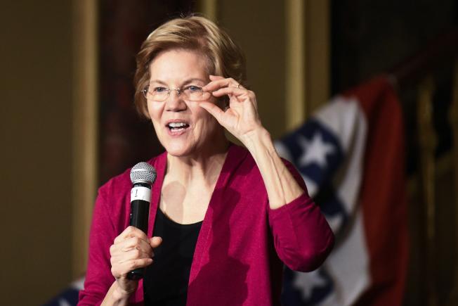 麻州國會參議員華倫已經邁步爭取2020年民主黨總統提名。(美聯社)