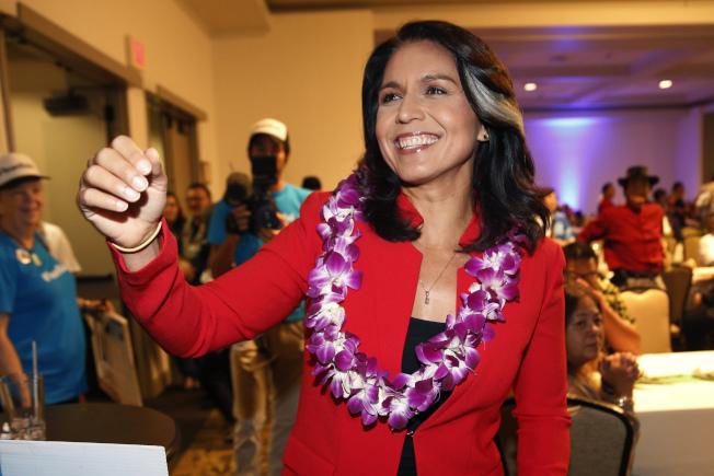夏威夷州國會眾議員葛巴德投身角逐2020年白宮大位。(美聯社)