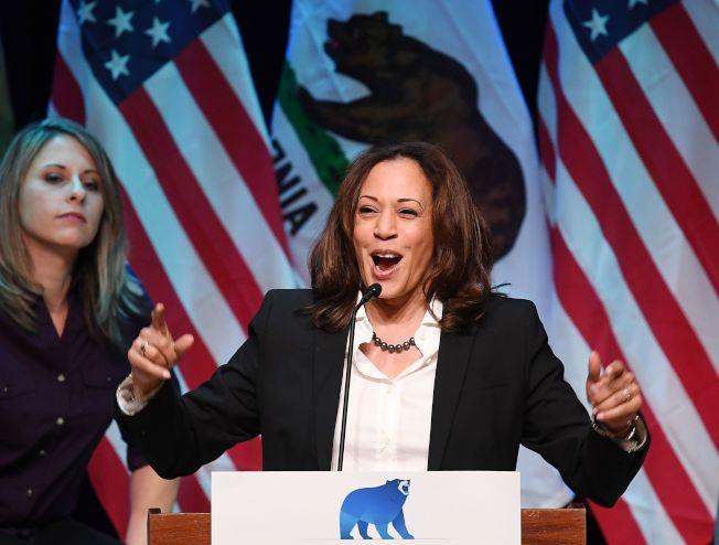 加州國會參議員賀錦麗有意出征2020年。(Getty Images)