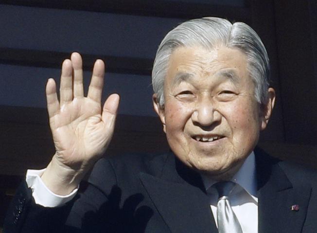 日本明仁天皇將於今年4月底退位。(美聯社)