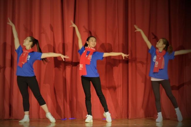 洋子健身帶來健身操表演。(記者曹健╱攝影)