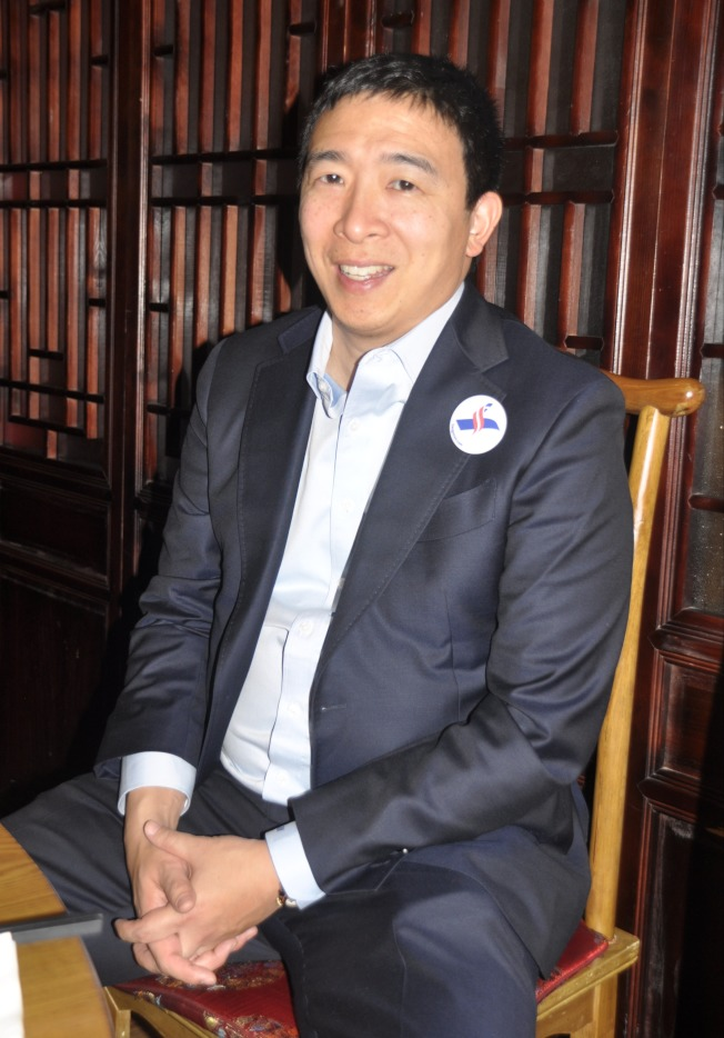 楊安澤表示,取代美國勞工的不是移民,而是科技與自動化。(記者林亞歆/攝影)